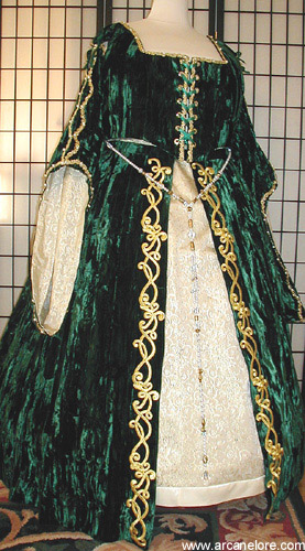 traditional celtic wedding dress
